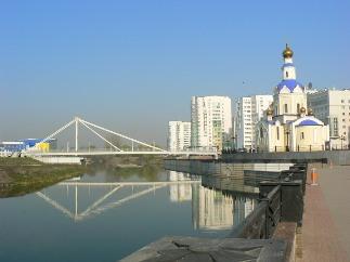 Город Белгород. Мост через речку Везелка.